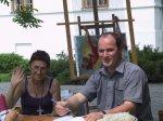 Łucznica 2003 - Nasza Zenia z szefem ośrodka w Łucznicy